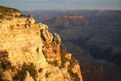 восход солнца каньона грандиозный стоковое фото