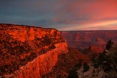 восход солнца каньона грандиозный Стоковые Изображения