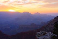 восход солнца каньона грандиозный Стоковое Изображение