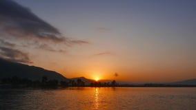 восход солнца корабля sailing рассвета среднеземноморской сток-видео