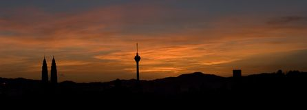 восход солнца Куала Лумпур Стоковое Изображение