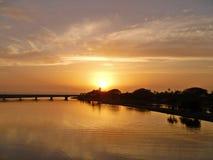 Восход солнца лагуны стоковое изображение