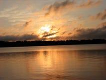 восход солнца лета шторма стоковые изображения rf