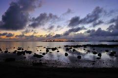 восход солнца Маврикия Стоковое Изображение RF