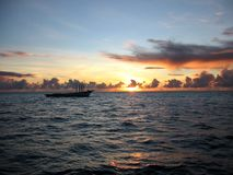 восход солнца Мальдивов Стоковое Изображение