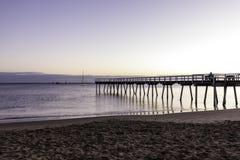 Восход солнца молы Торки, залив Hervey, QLD Стоковое Изображение