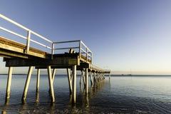 Восход солнца молы Торки, залив Hervey, QLD Стоковая Фотография