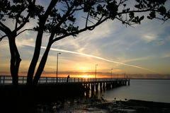 восход солнца молы Стоковое фото RF