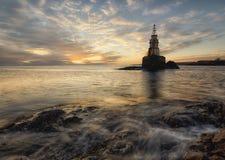 Восход солнца моря, около Ahtopol, Burgas, Болгария Стоковые Фотографии RF
