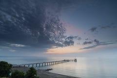 Восход солнца моря, около Burgas Болгарии Стоковое Изображение RF