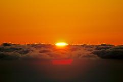 восход солнца моря свободного полета Стоковое Изображение