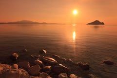 восход солнца моря Стоковая Фотография