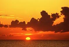 восход солнца моря Стоковое Изображение