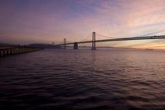 восход солнца моста залива Стоковые Фото