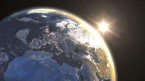 Восход солнца над восточной полусферой бесплатная иллюстрация