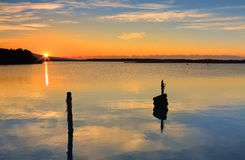 Восход солнца над входом Mallacoota Стоковые Изображения