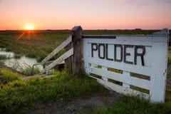Восход солнца над голландским польдером Стоковое Изображение RF