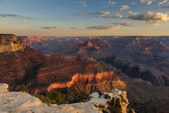 Восход солнца над грандиозным каньоном Стоковые Фотографии RF