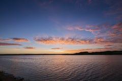 Восход солнца над запасом Peterborough прибрежным Стоковые Изображения