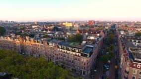 Восход солнца над каналом Амстердама акции видеоматериалы