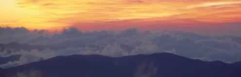 Восход солнца над куполом Clingman, стоковые фото