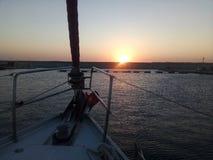 Восход солнца над Мариной Rodos стоковые изображения rf
