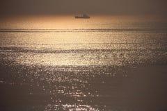 Восход солнца над морем в утре стоковые фотографии rf