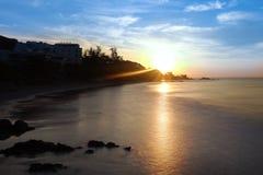 Восход солнца над морем Стоковое фото RF