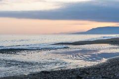 Восход солнца над морем стоковое фото
