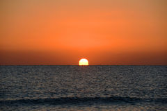 Восход солнца над морем, Key West, Флоридой Стоковые Изображения RF