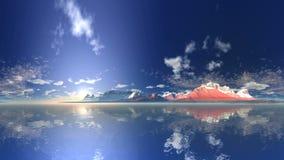 Восход солнца над озером горы сток-видео