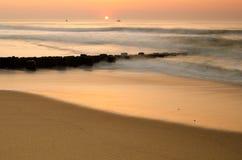 Восход солнца над океаном стоковое фото rf