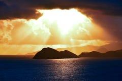 Восход солнца над островом девственницы St. John США Стоковые Фото