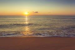 Восход солнца над открытым морем Стоковая Фотография RF