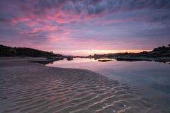 Восход солнца наряду с большой дорогой океана в Австралии Стоковые Изображения RF