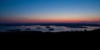 восход солнца национального парка горы cadillac acadia Стоковые Фотографии RF