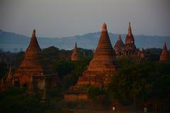 Восход солнца на виске Bagan, Мьянме стоковое фото rf