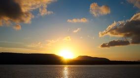 Восход солнца на горе Стоковые Изображения RF