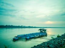 Восход солнца на Меконге, Таиланде стоковое изображение