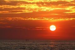 Восход солнца на море Стоковая Фотография RF