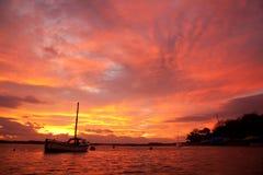 Восход солнца на мосте 4 миль Стоковая Фотография RF