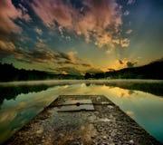 Восход солнца на озере Стоковое фото RF