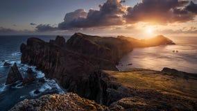 Восход солнца на океане стоковые фотографии rf