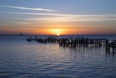 Восход солнца на парке Spaceview в Titusville Стоковое Изображение