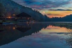 Восход солнца на питает парк стоковое фото rf
