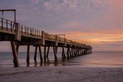 Восход солнца на пляже в Флориде Стоковое Изображение