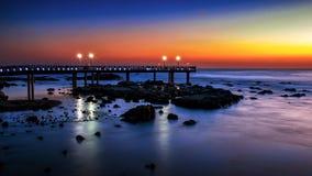 Восход солнца на пляже Homigot стоковое фото
