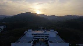 Восход солнца на районе образования в Малайзии акции видеоматериалы
