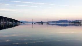 Восход солнца на цене Эгейского моря стоковая фотография