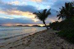 Восход солнца на Culebra в испанских Виргинских островах стоковое изображение